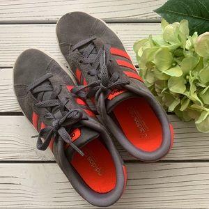 adidas Shoes - Adidas Daily Team K Gray/Orange - J8024 Women's